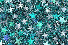 Jolifin Glitter Stars petrol-grey