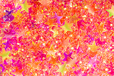 Jolifin Glitter Stars neon pink-orange