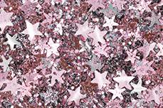 Jolifin Glitter Stars rosy-silver