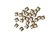 Jolifin Strasssteine Quadrat gold
