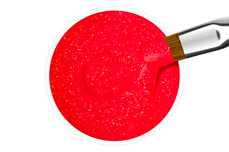 Jolifin Farbgel neon-coral sparkle 5ml