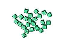 Straßsteine Quadrat green