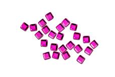 Straßsteine Quadrat pink