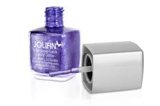 Jolifin Stamping-Lack - purple Glitter 12ml