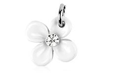 Jolifin Nagel-Piercing Blume weiß