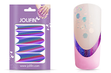 Jolifin Hologramm French Sticker lila