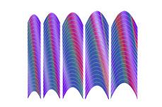Jolifin Hologramm French Sticker lila