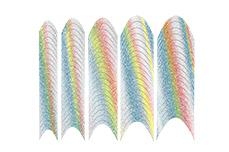 Jolifin Hologramm French Sticker silber