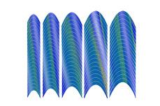 Jolifin Hologramm French Sticker blau