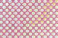Jolifin selbstklebende Strassmatte - white-pink