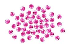 Straßsteine rund pink