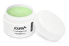 Jolifin Acryl Farbpulver lime Glimmer 5g