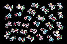 3D-Sticker Flowers Design 1