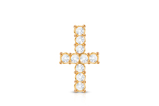 Jolifin Overlay Kreuz rosé-gold