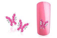 Jolifin Overlay Schmetterling pink