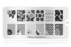 MoYou-London Schablone Tropical Collection 09