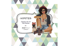MoYou-London Schablone Hipster Collection 08