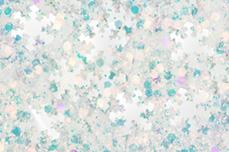 Jolifin Snowflake Glitter - white