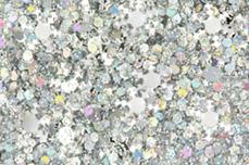 Jolifin Snowflake Glitter - silver