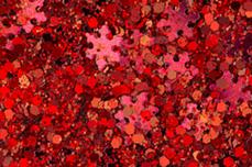 Jolifin Snowflake Glitter - red