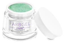 Jolifin Farbgel Nightshine peppermint Glimmer 5ml