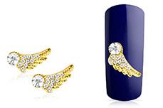 Jolifin Overlay Glitter Flügel gold