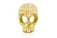 Jolifin Overlay Glitter Totenkopf gold