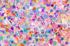 Jolifin Confetti Glitter - pastell-mix