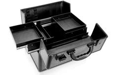 Jolifin Mobiler Kosmetik Koffer schwarz Glitter - B-Ware 2