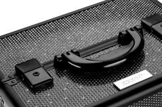 Jolifin Mobiler Kosmetik Koffer schwarz Glitter - B-Ware