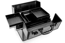 Jolifin Mobiler Kosmetik Koffer schwarz Glitter