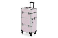 Jolifin Trolley Koffer pink Glitter
