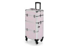 Jolifin Trolley Koffer pink Glitter - B-Ware