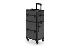Jolifin Trolley Koffer schwarz Glitter - B-Ware