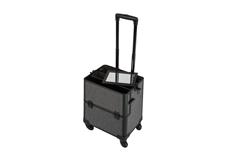 Jolifin Trolley Koffer schwarz Glitter