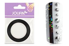 Jolifin Pinstripes hologramm schwarz - 3mm