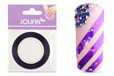 Jolifin Pinstripes hologramm lila - 3mm