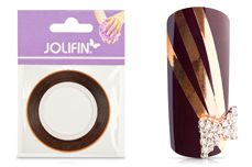 Jolifin Pinstripes chrome kupfer - 2mm