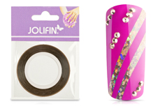 Jolifin Pinstripes hologramm braun - 2mm