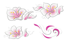 Jolifin Airbrush Tattoo Silber 7
