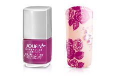 Jolifin Stamping-Lack - purple berry 12ml