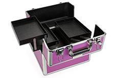 Mobiler Kosmetik Koffer lila