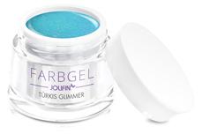 Jolifin Farbgel türkis Glimmer 5ml