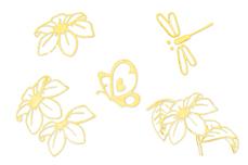 Jolifin Ornament Nail-Sticker Gold 7