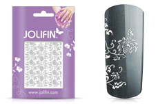 Jolifin Ornament Nail-Sticker Silver 5