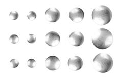 Jolifin Nieten-Sticker Silber