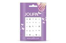 Jolifin Nieten-Sticker Mix Silber