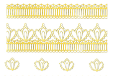 Jolifin LAVENI Lace Sticker - Gold 1