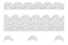 Jolifin LAVENI Lace Sticker - Silver 1
