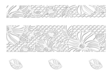Jolifin LAVENI Lace Sticker - Silver 2